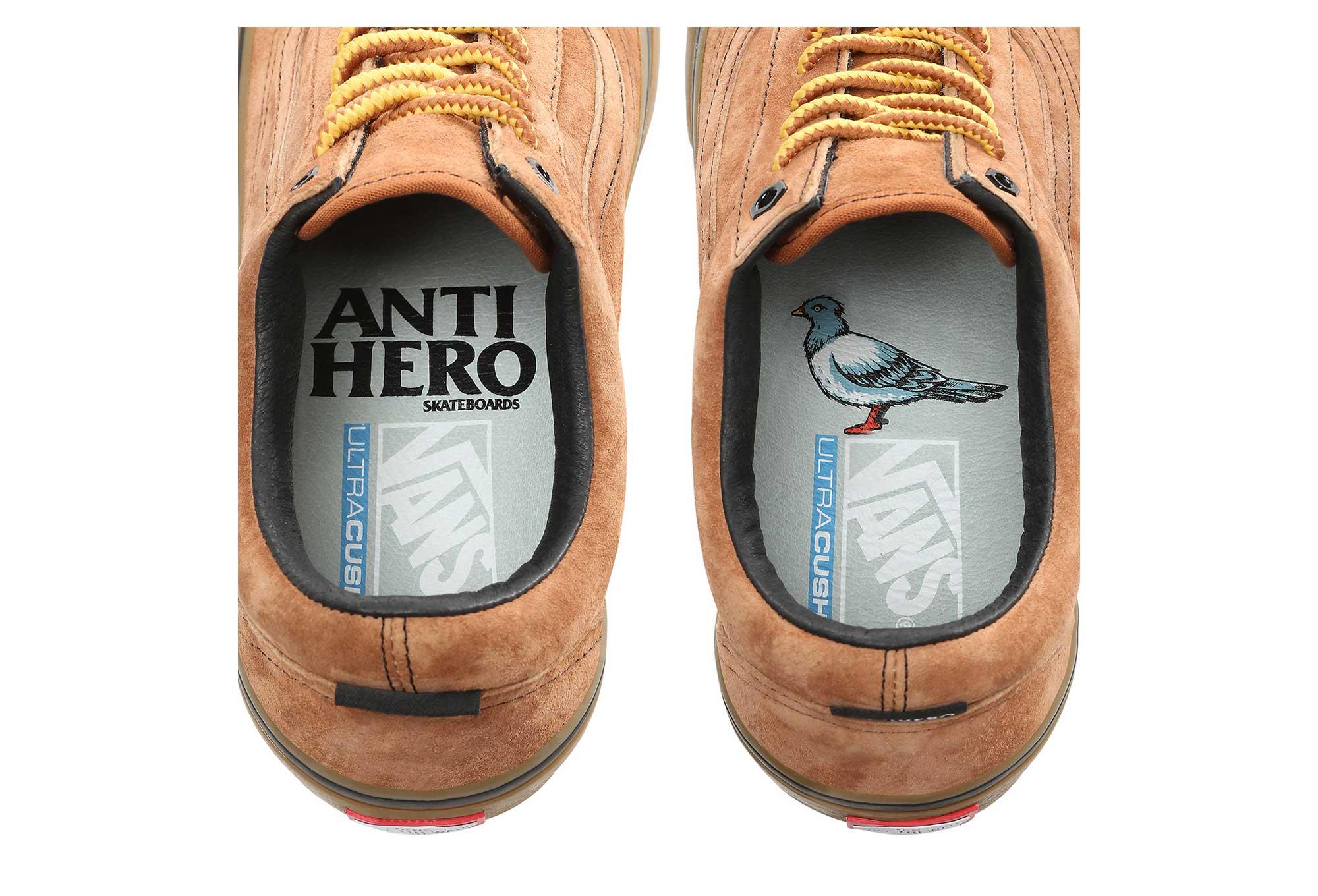 Vans Old Skool Shoes Pro Anti Hero Marron