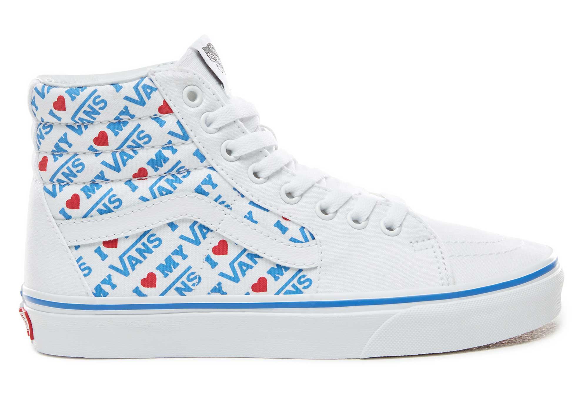 Vans UA SK8-Hi I Heart Shoes Blue