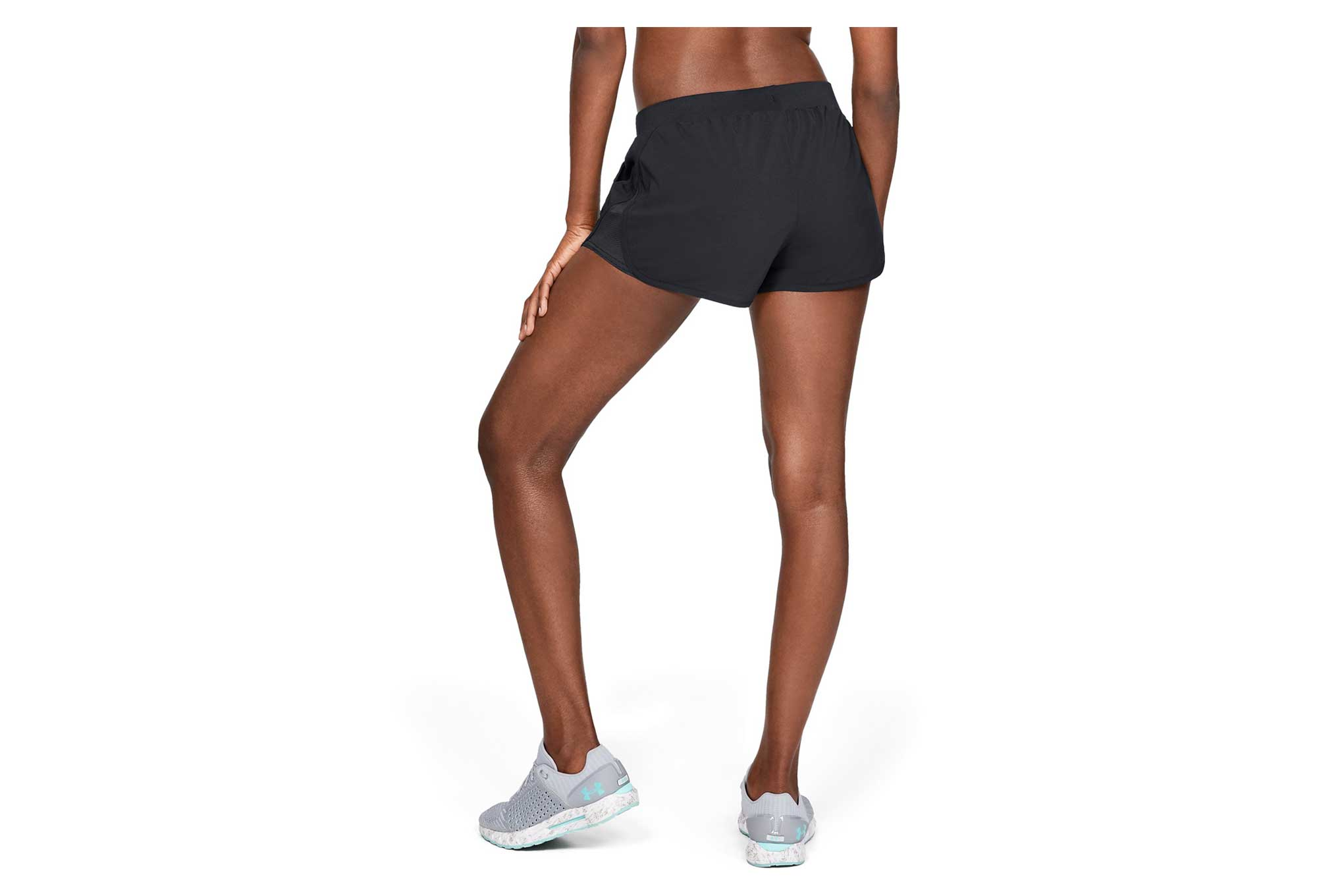 under armour fly by mini damen shorts schwarz. Black Bedroom Furniture Sets. Home Design Ideas