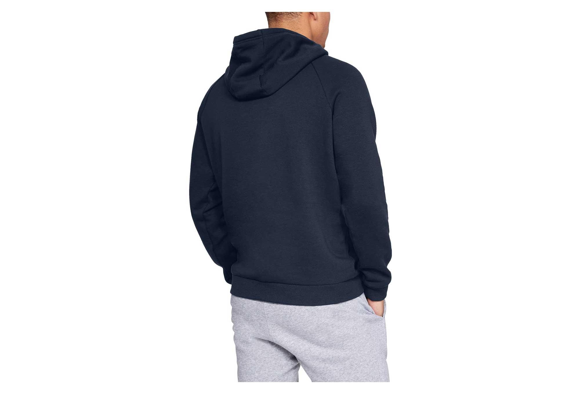 Under Armour Rival Fleece Logo Hoodie Sweat Navy Blue