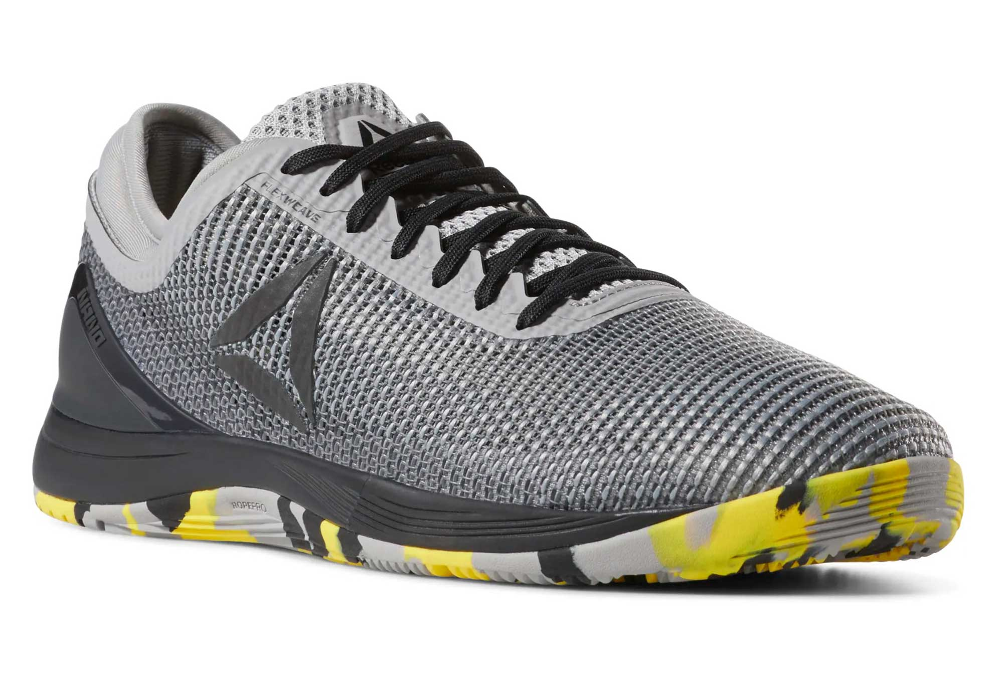 5970239d12 Reebok CrossFit Nano 8 Flexweave Grey Black Yellow