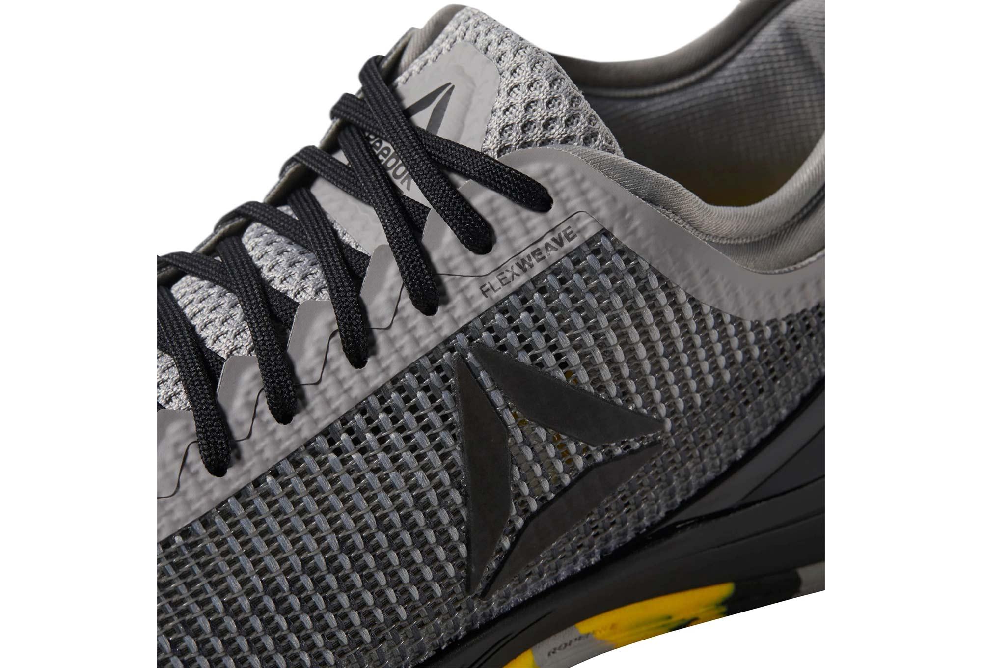 726a7e6d50a3 Reebok CrossFit Nano 8 Flexweave Grey Black Yellow