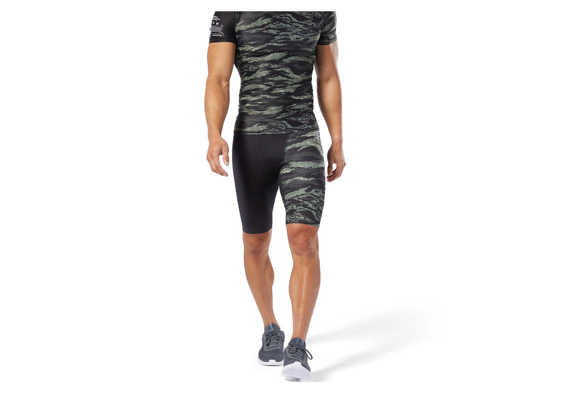 mejor selección 9d6c4 64b49 Reebok CrossFit pantalones cortos de compresión Camo negro