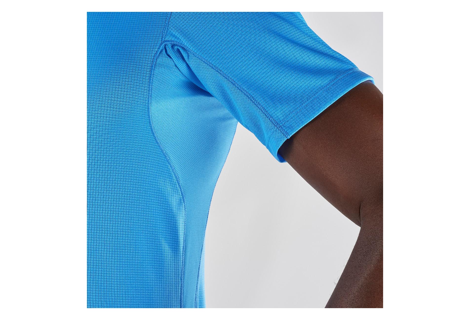 T Shirt Manches Courtes Salomon Agile Bleu