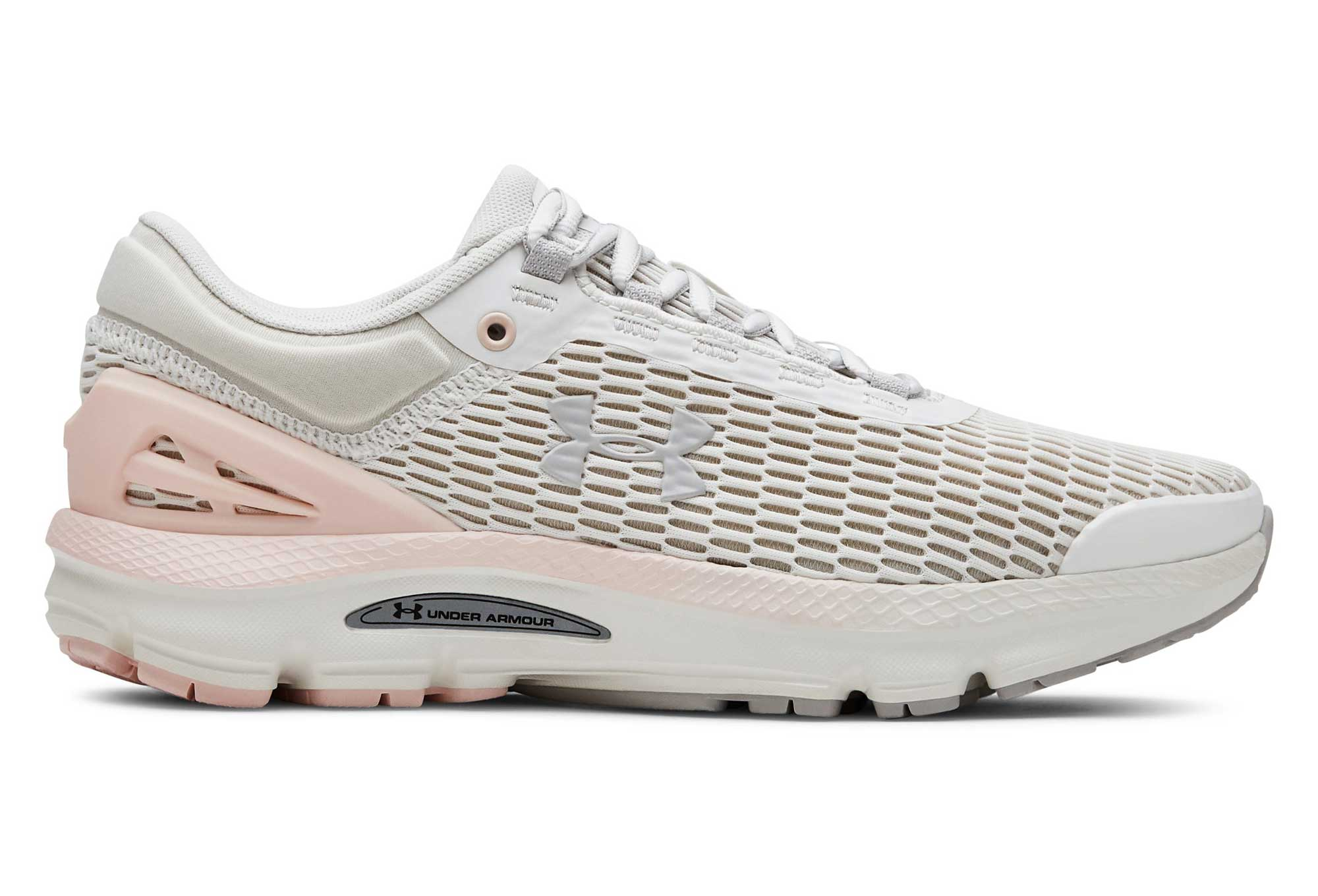 Chaussures de Running Femme Under Armour Charged Intake 3 Blanc Rose