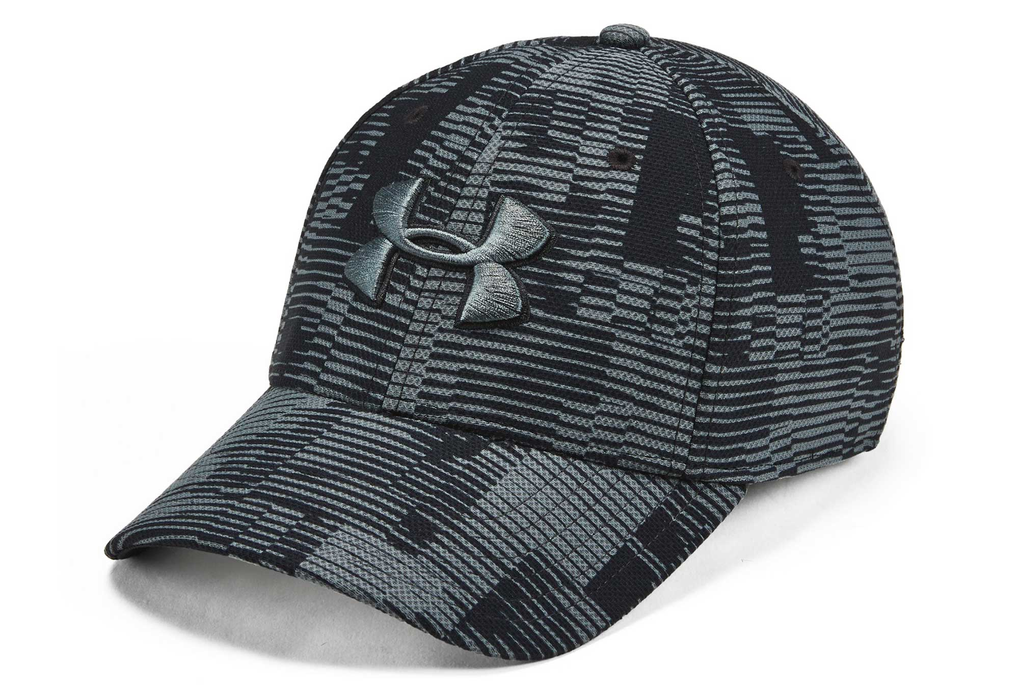 85a3770630b Under Armour Printed Blitzing 3.0 Stretch Fit Cap Black Grey ...