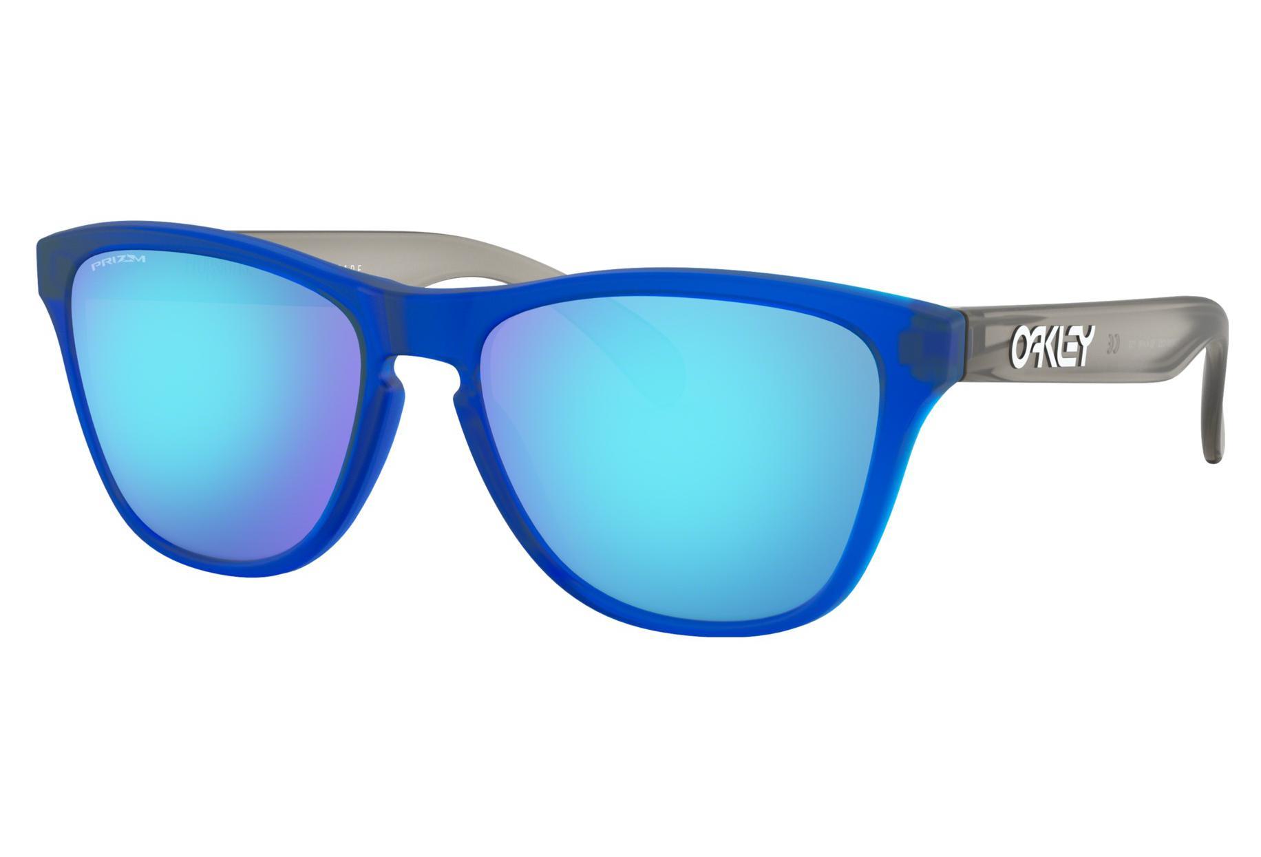7c9a09670e8 Oakley Sunglasses Frogskins XS   Matte Translucent Sapphire   Prizm  Sapphire   Ref. OJ9006-1253