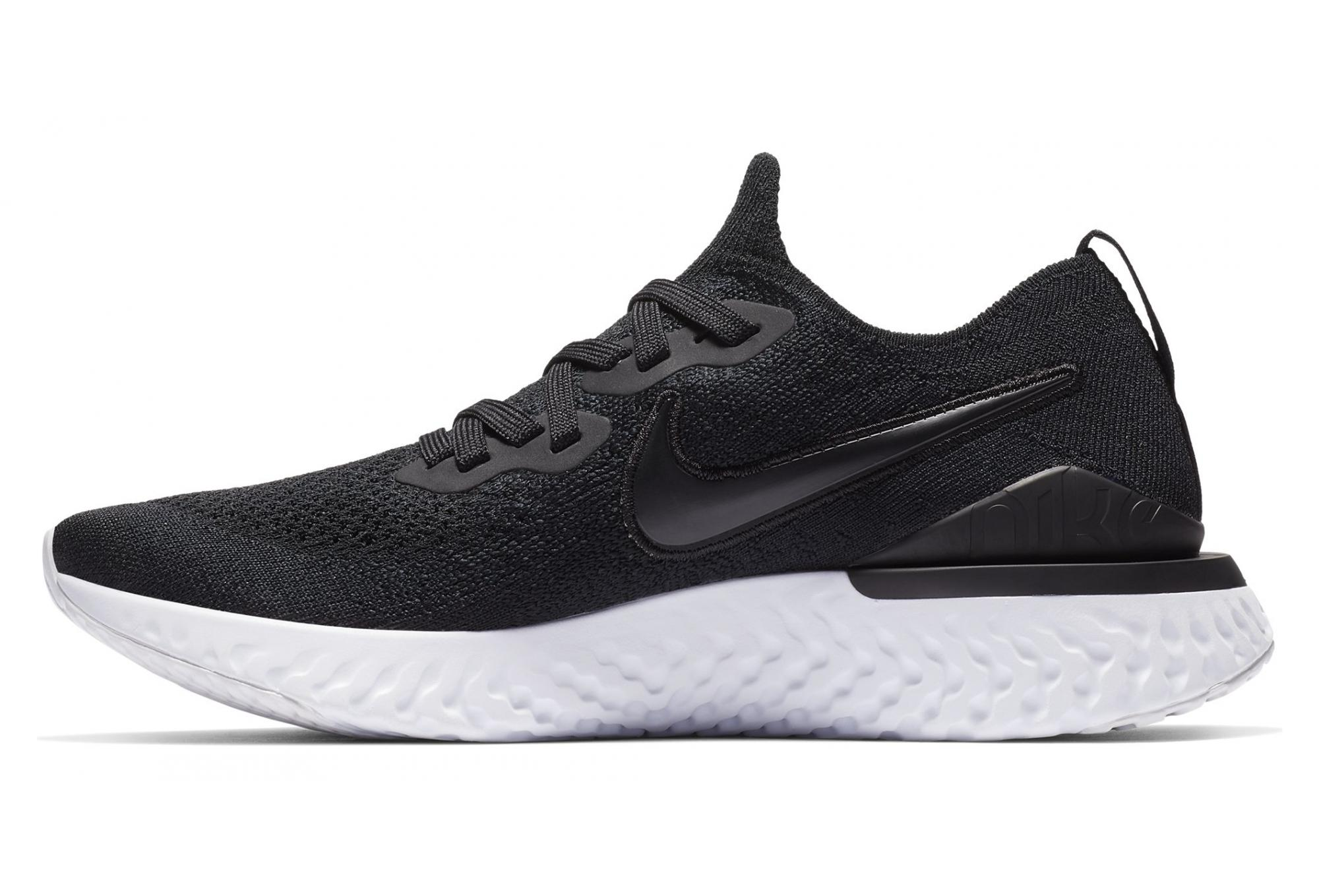Nike Epic React Flyknit 2 Negro Gris Mujer