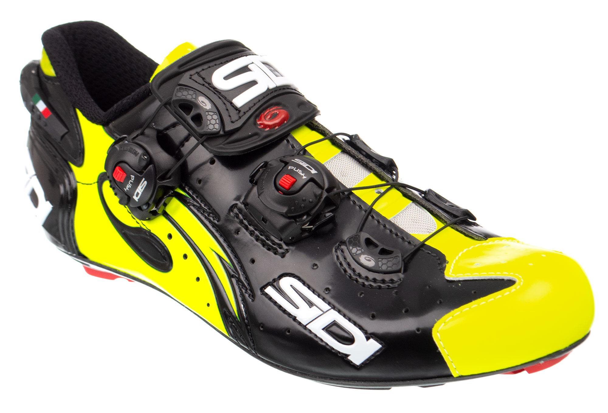 Sidi Wire Carbon Road Schuhe Black Yellow Vernice