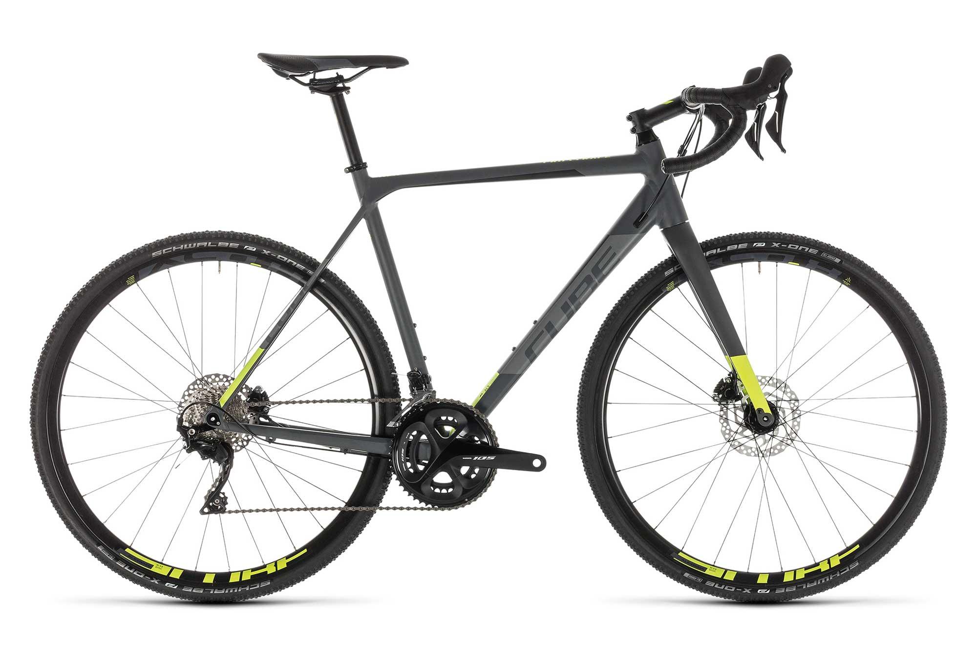 086060485f0 Cube Cross Race Pro Cyclocross Bike Shimano 105 11S 2019 Grey Neon Yellow |  Alltricks.com