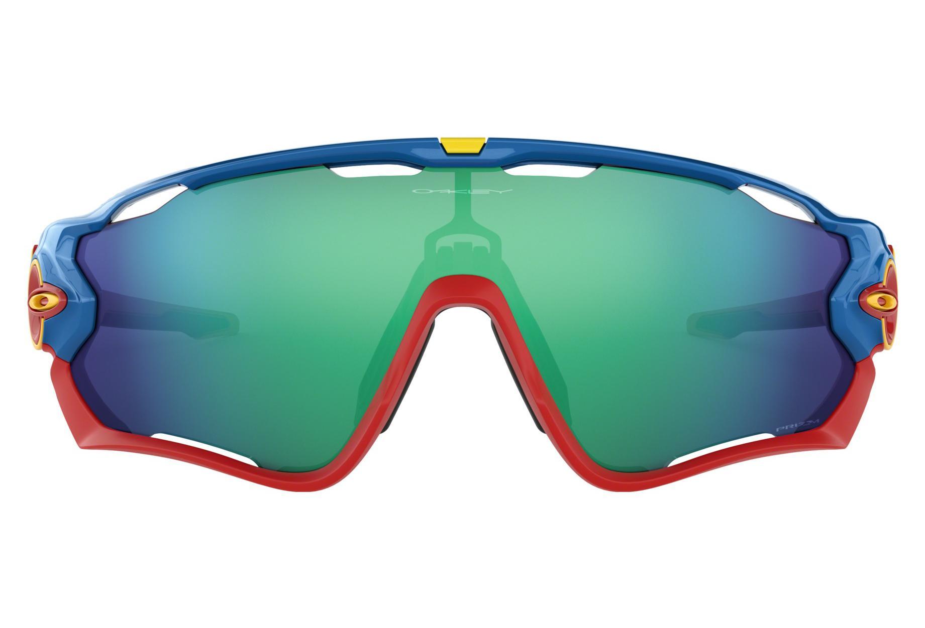 d31b83eab9d72 Gafas de sol Oakley Jawbreaker   Prizm Jade Gris   Azul Rojo   Ref ...