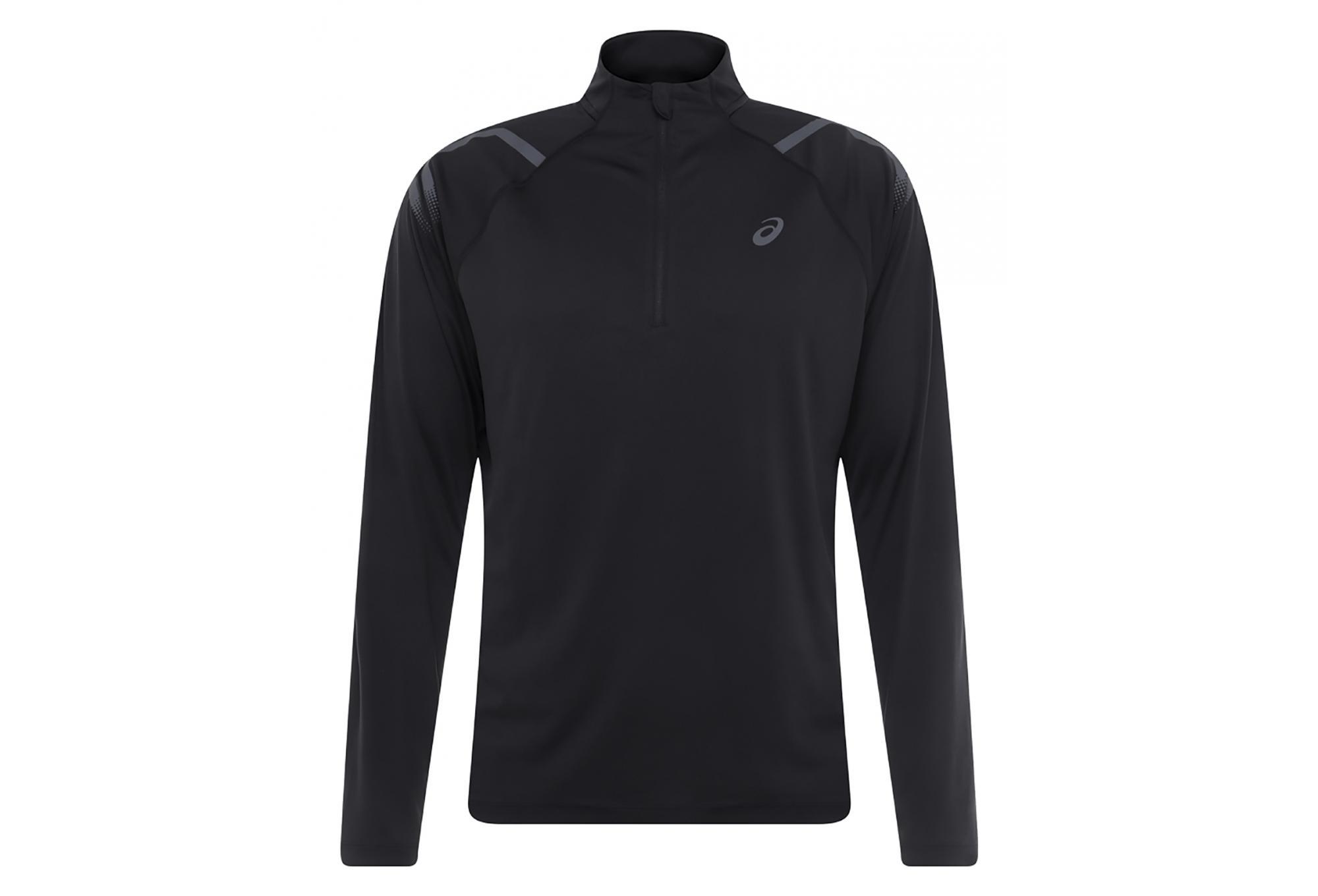 36ed02fac2 Asics Long Sleeves Jersey 1/2 zip Icon Black