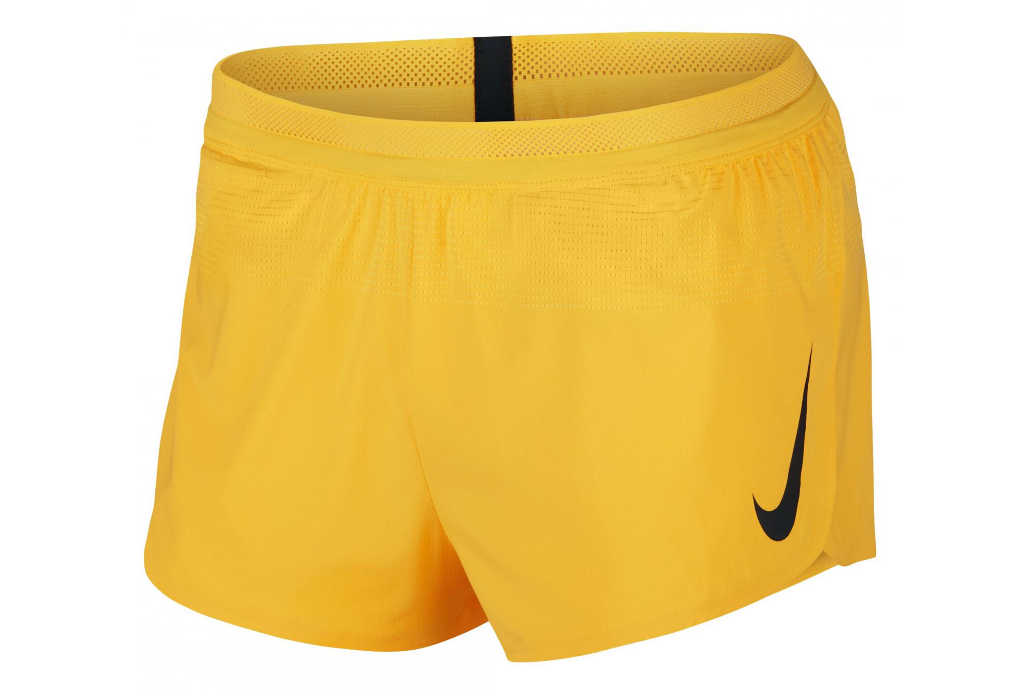 great fit low price half off Short de course Nike Aeroswift 5cm Jaune Homme