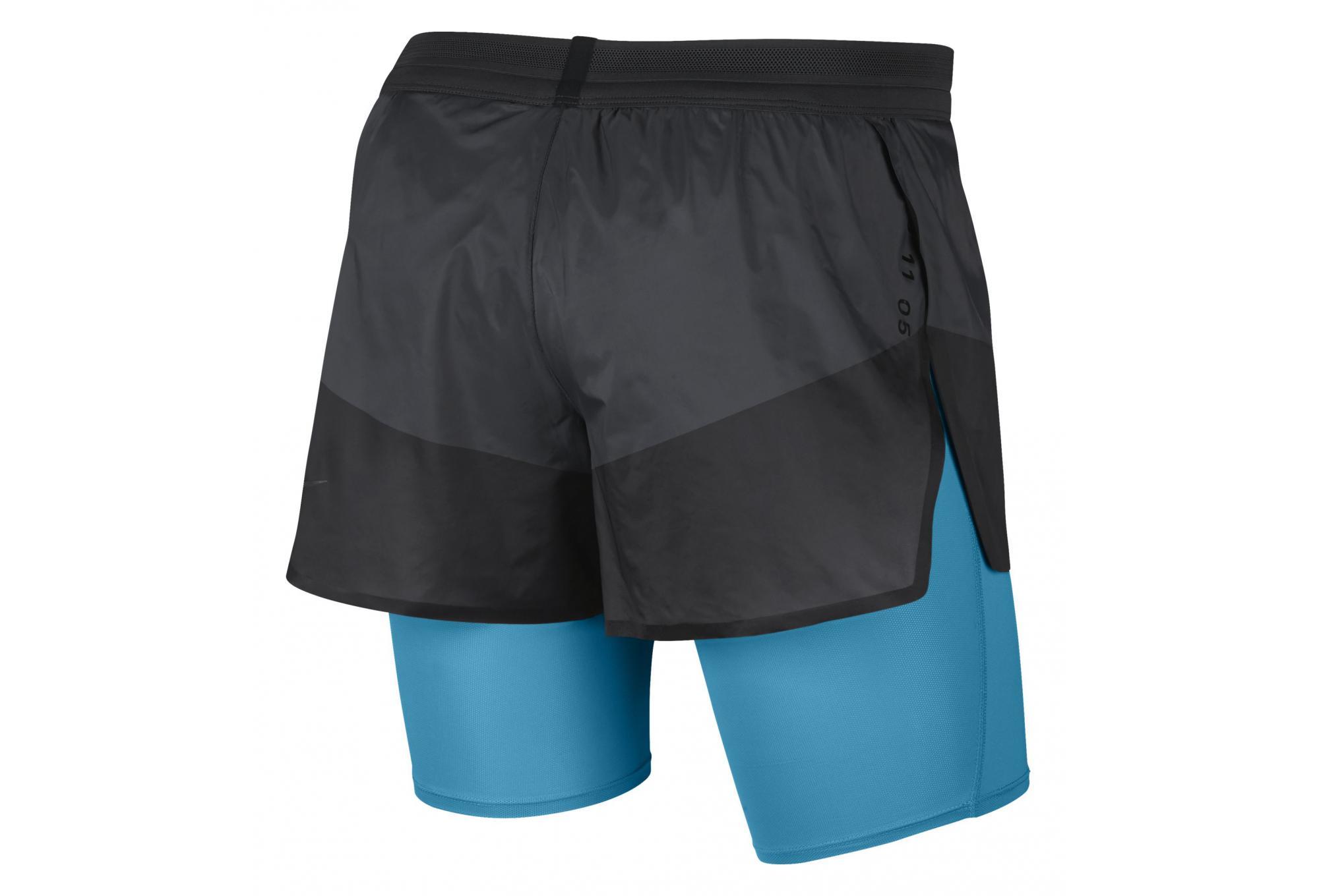 Short 2 en 1 Nike Tech Pack Noir Bleu Homme