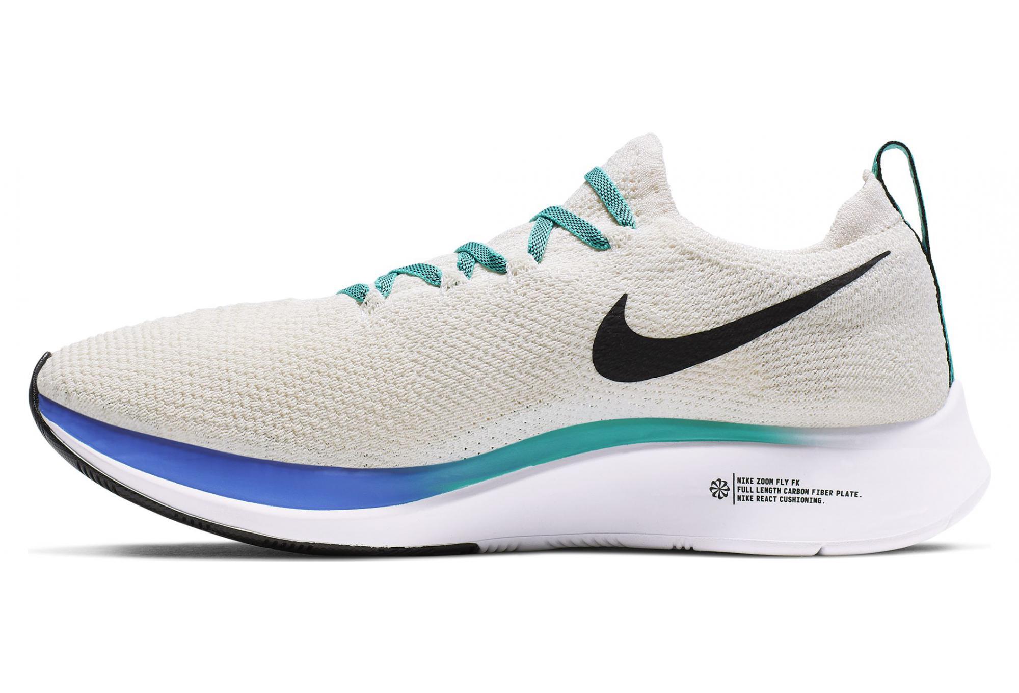 Nike Zoom Fly Flyknit Blanc Bleu Femme