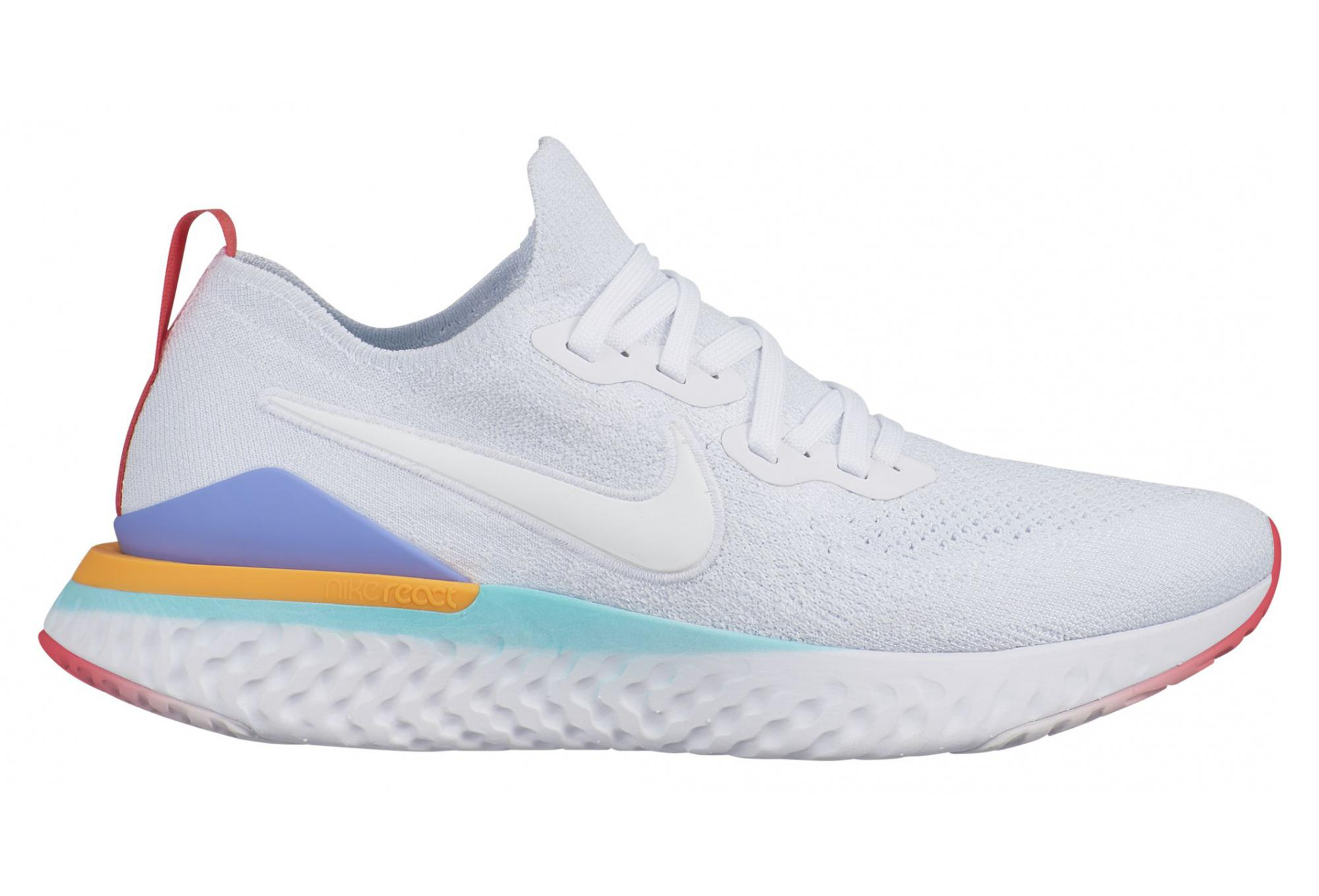 Señor Caracterizar Invertir  Nike Epic React Flyknit 2 White Multi-color Women | Alltricks.com