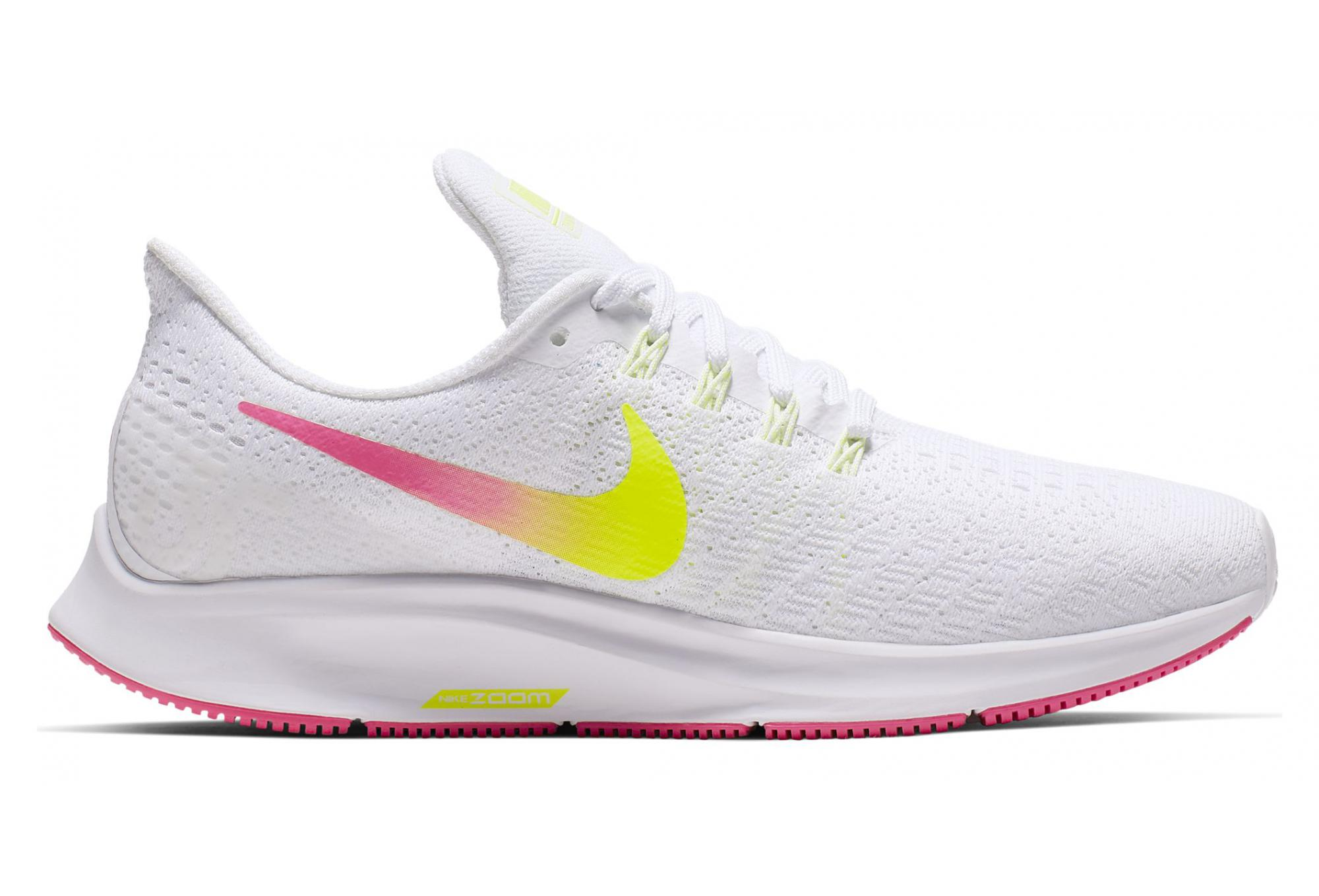 finest selection 303bd f0777 Nike Air Zoom Pegasus 35 White Yellow Pink Women