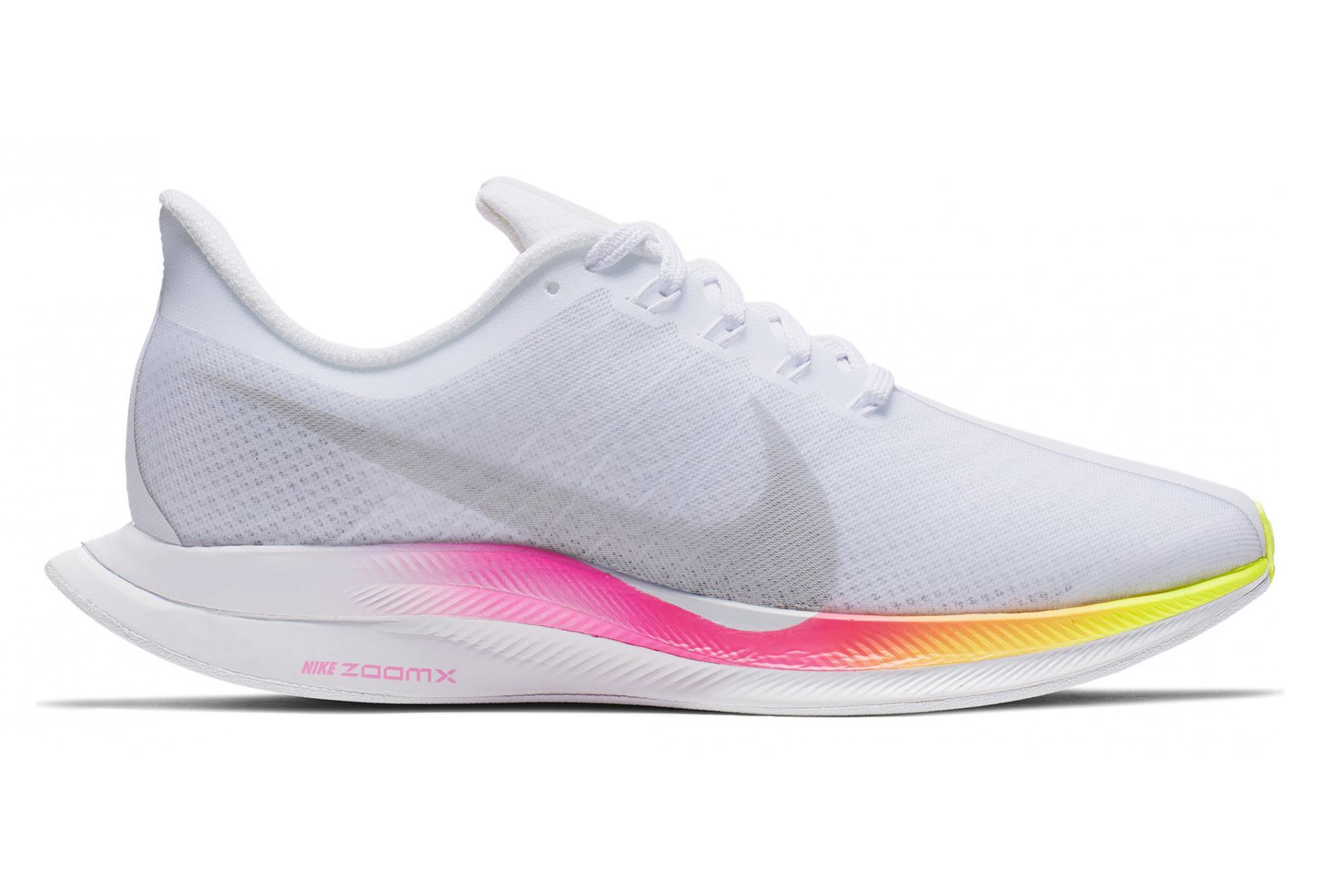 code promo 260ed cdcba Nike Zoom Pegasus 35 Turbo Blanc Jaune Rose Femme
