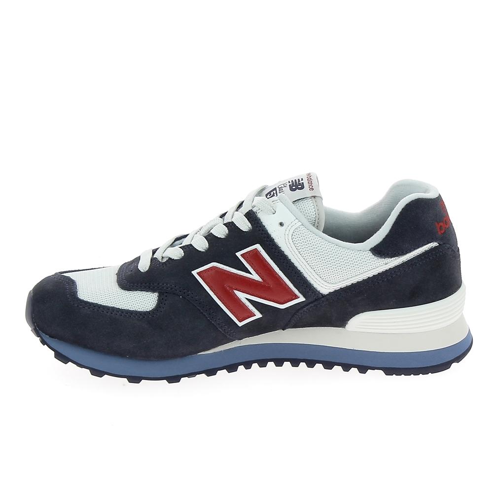 Conception innovante 876db d9806 Basket mode, SneakerBasket mode - Sneakers NEW BALANCE ML574 D Gris Bleu