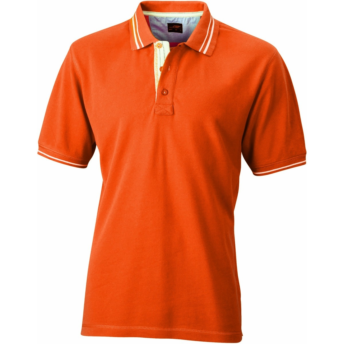 James et Nicholson Polo homme - JN947 - orange