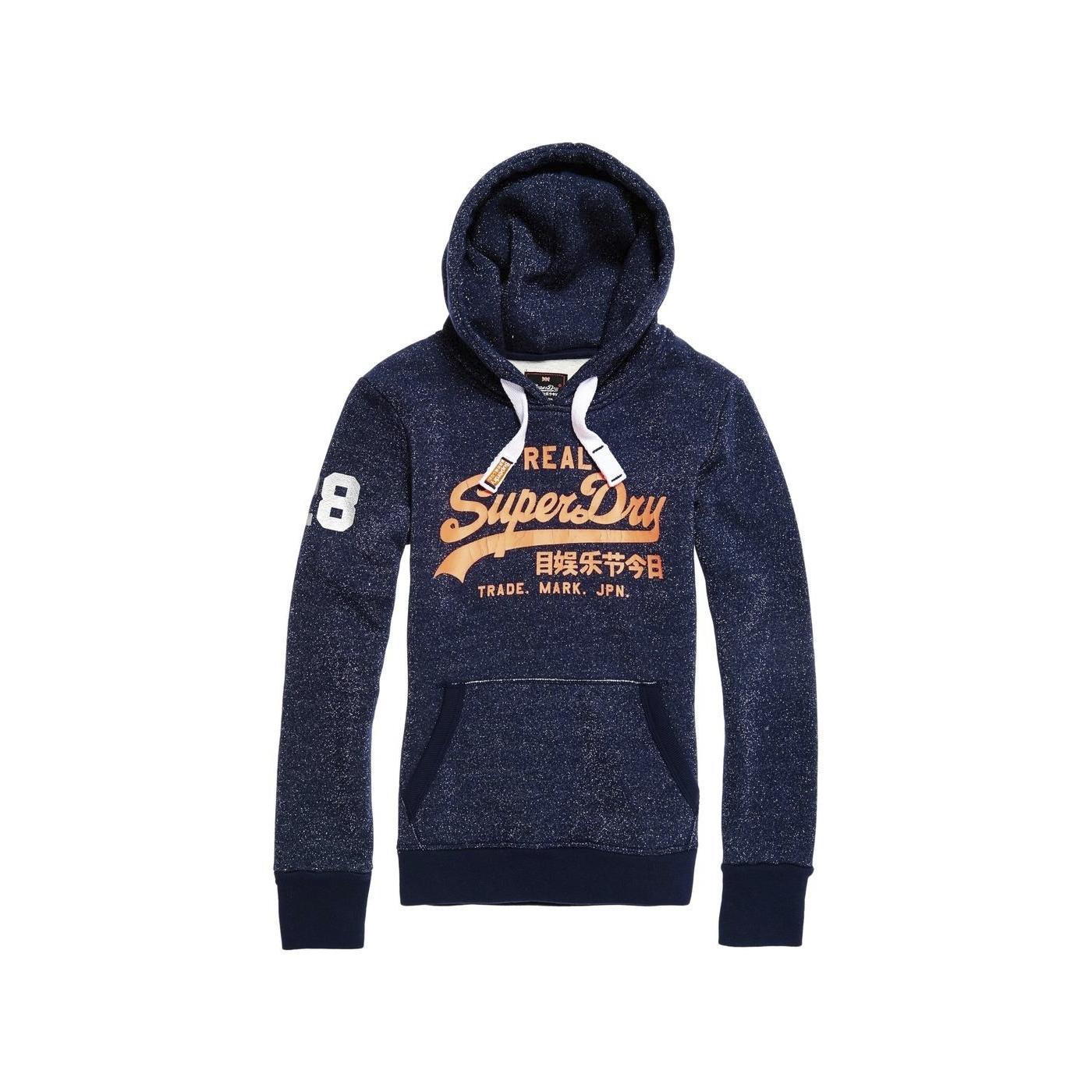 large choix de couleurs prix raisonnable prix de liquidation Sweat à Capuche Superdry Vintage Logo Lurex Navy