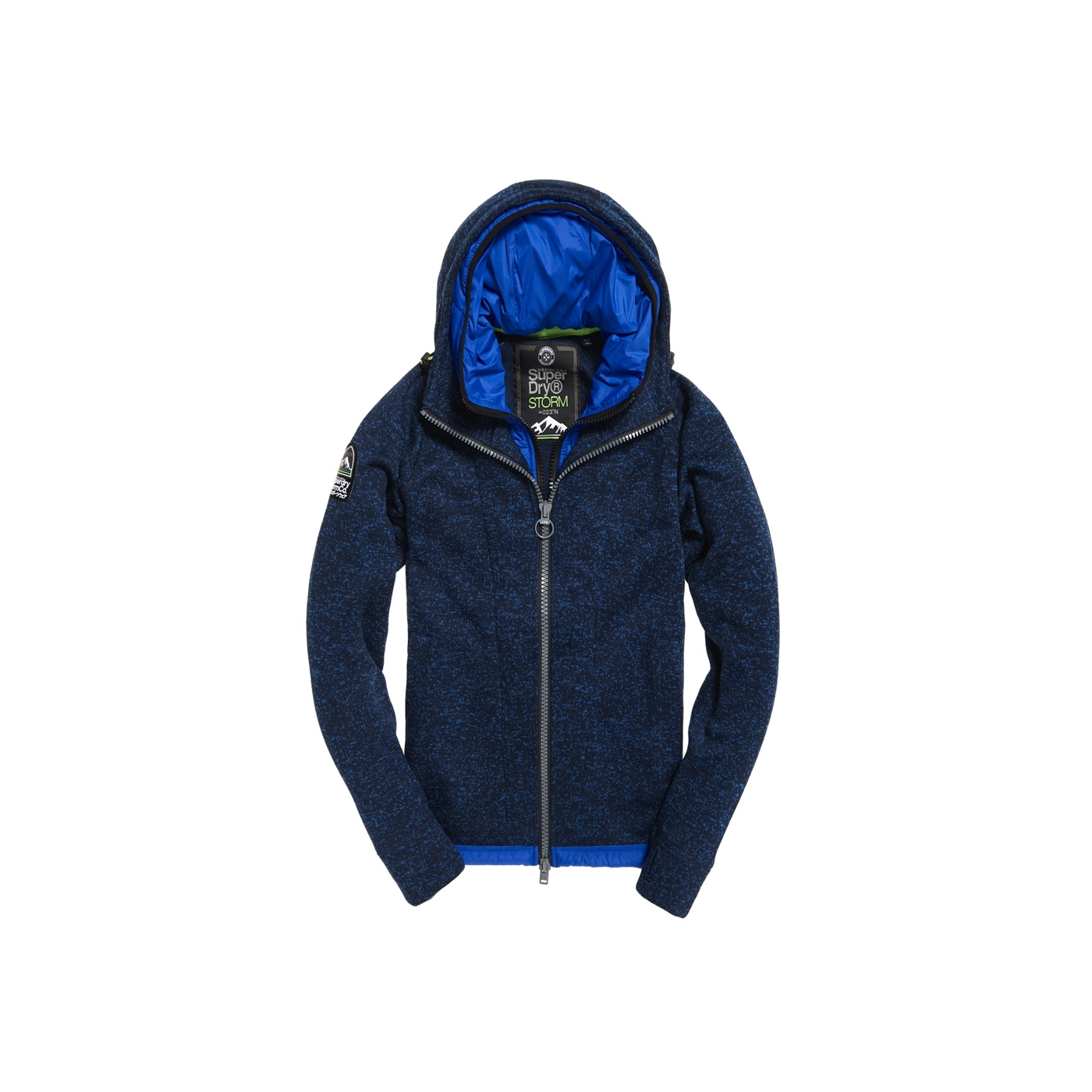 Sweat Capuche Superdry Storm Blizzard Ink Heather   Alltricks.fr c77ecd86a06b