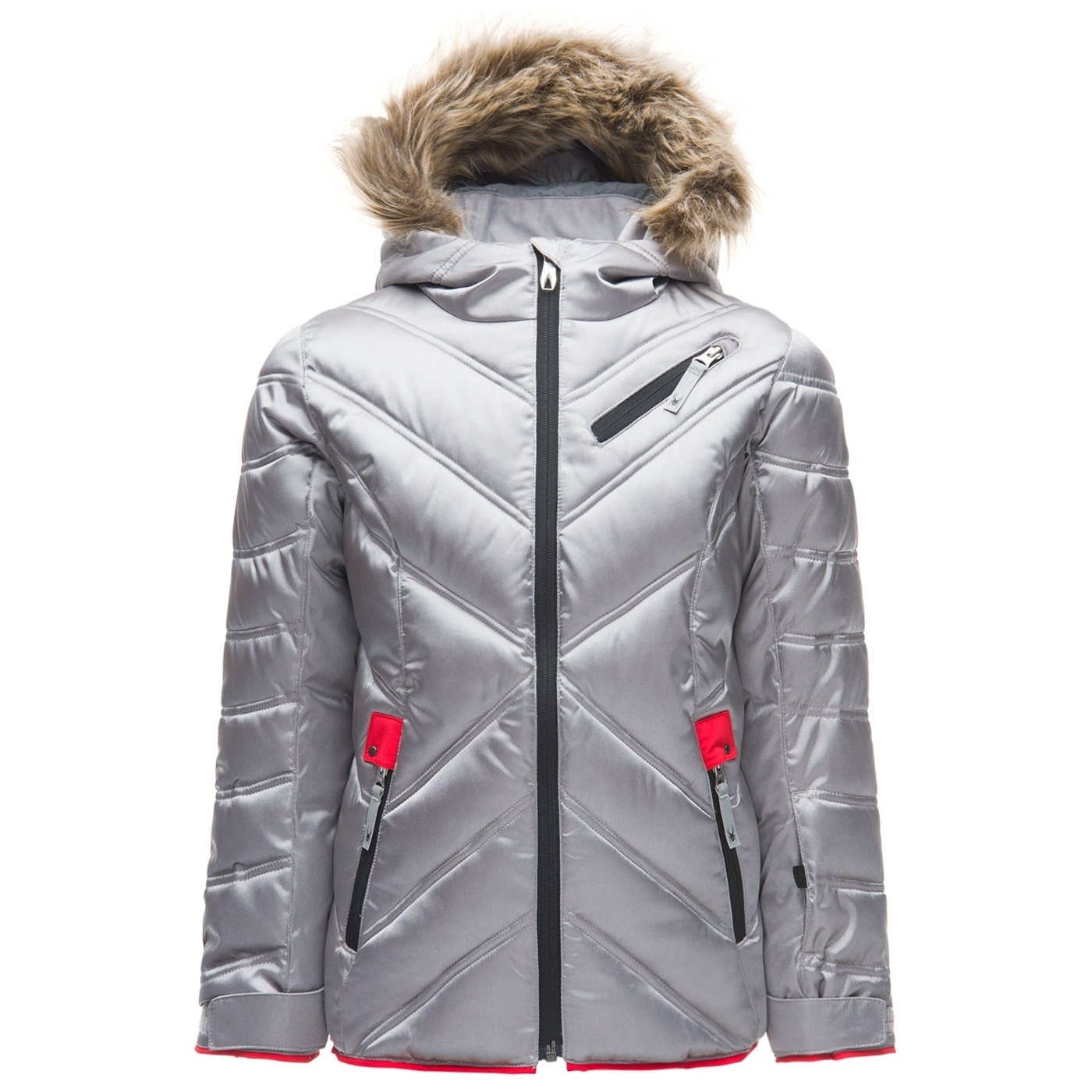 21b871cb42b26 Veste De Ski Spyder Girl's Leader Atlas Synthetic Slv Hib