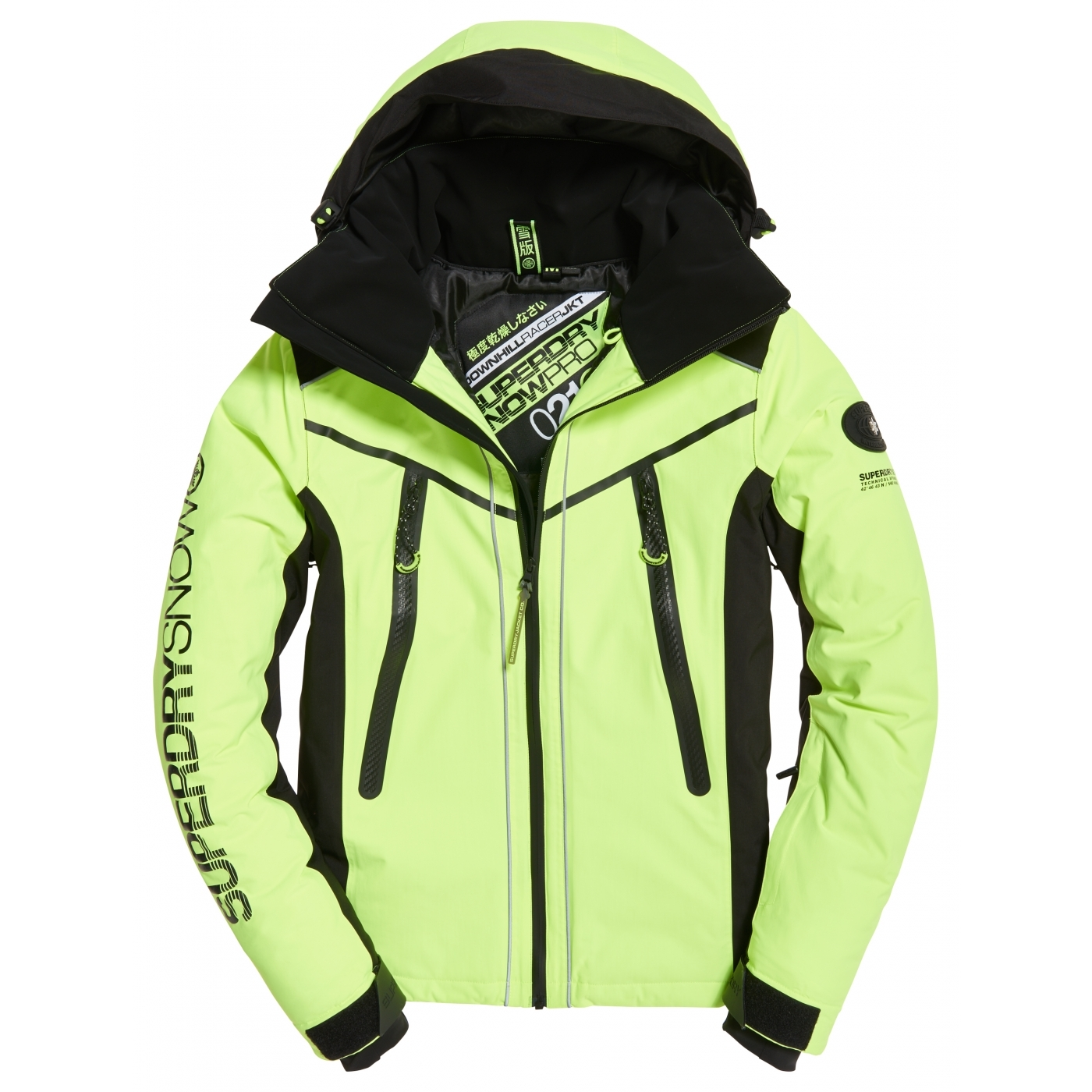 tout neuf 76935 3a6c7 Veste De Ski Superdry Downhill Racer Padded Jacket Yellow