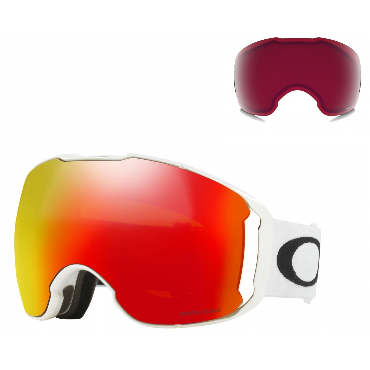 Masque Ski Oakley Airbrake Xl Matte White Prizm Torch et Rose ... 9f00a0fbad7a