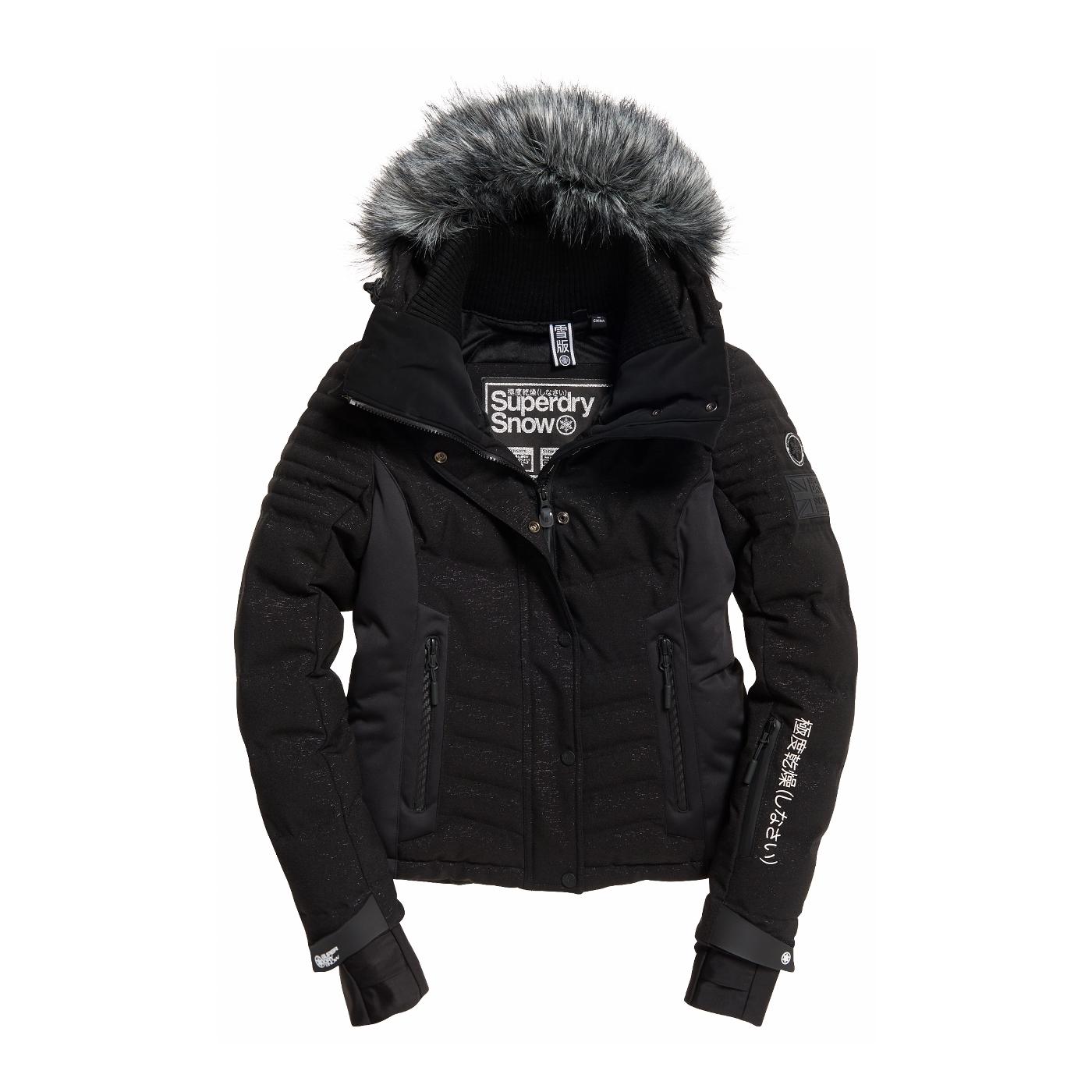 pas mal 11f8a 4d076 Veste De Ski Superdry Luxe Snow Puffer Black