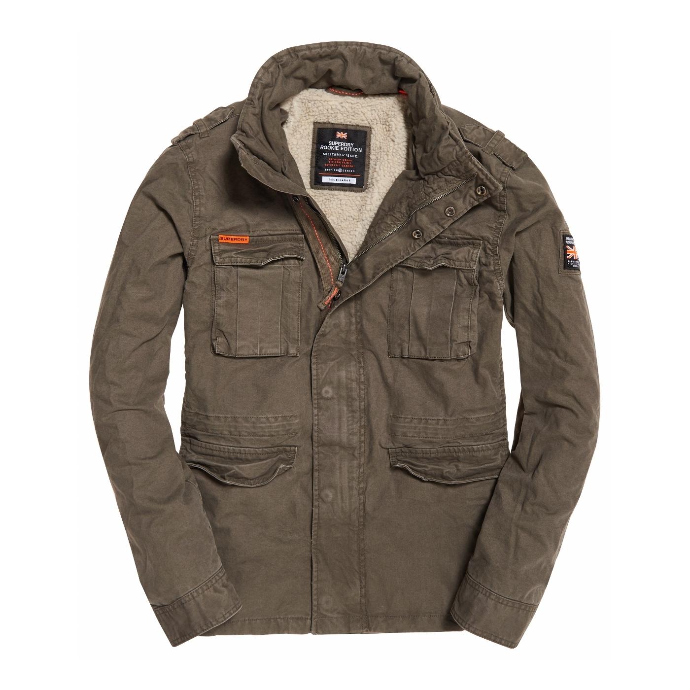 magasin en ligne check-out New York Veste Superdry Classic Rookie Military Khaki