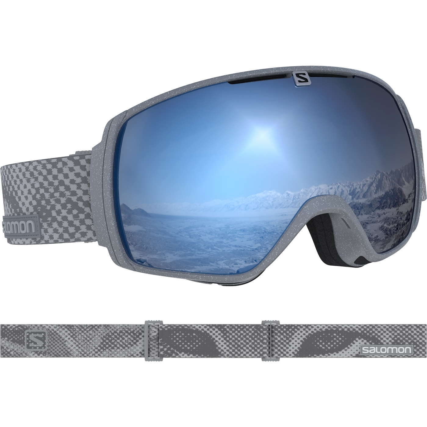 f019e7c792e8d1 Masque De Ski Salomon Xt One Sigma Stone   Uni Sky Blue Otg   Alltricks.com