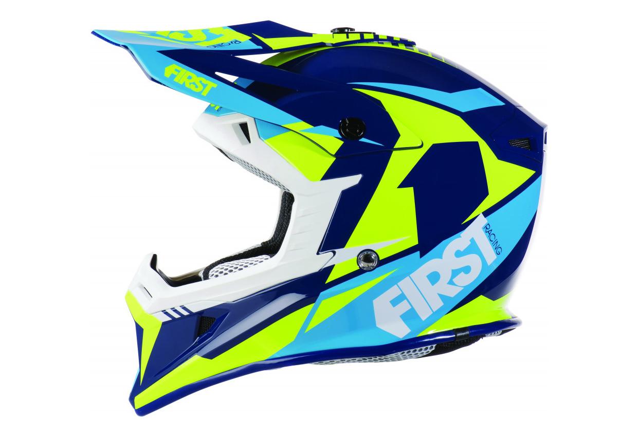 Casque Vtt Moto First Racing T3 Bleu
