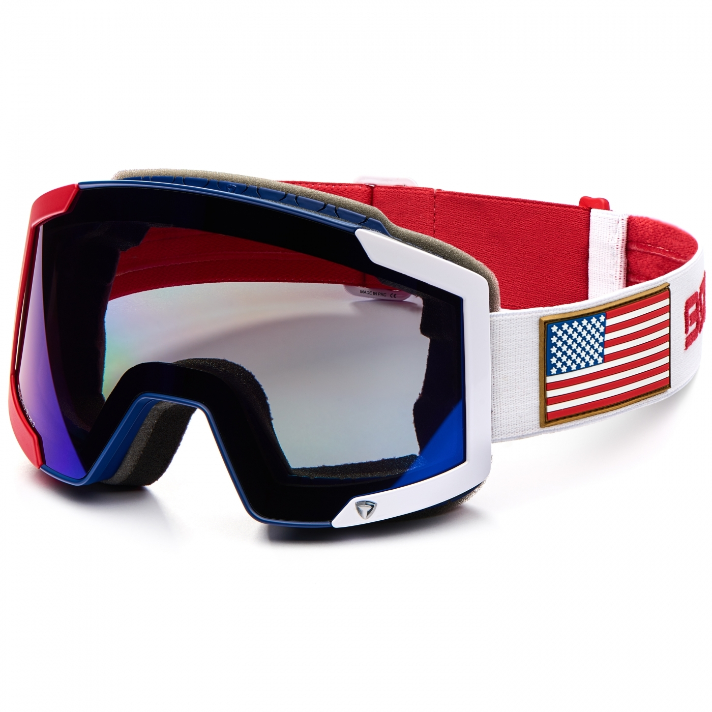 9d04cc197 Masque De Ski Briko Lava 7.6 2 Lenses Ussa Red Blue White | Alltricks.com