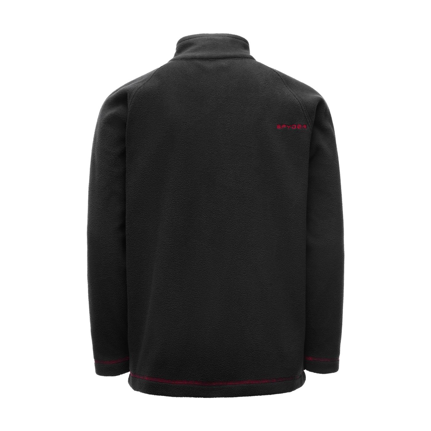 Spyder Polaire Boys Speed Fleece Top Black Red