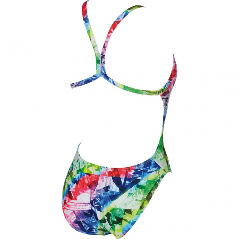 0ad8f4465b18 ARENA GLITCH ONE PIECE L MULTICOLOR-LEAF - Maillot Natation Femme 1 piece