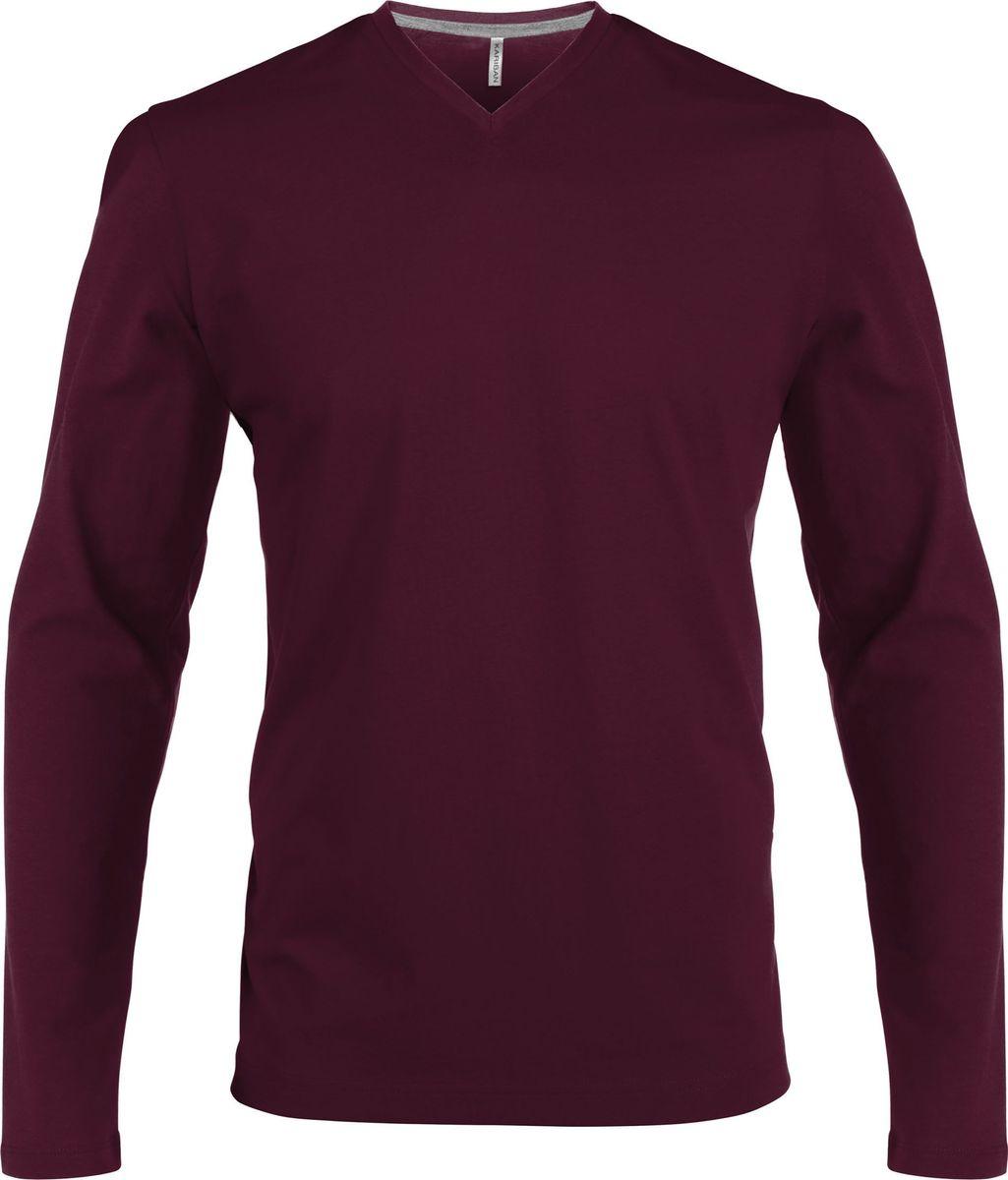 vente pas cher grand choix de 2019 détaillant en ligne Kariban T-shirt manches longues col V - K358 - rouge vin - homme