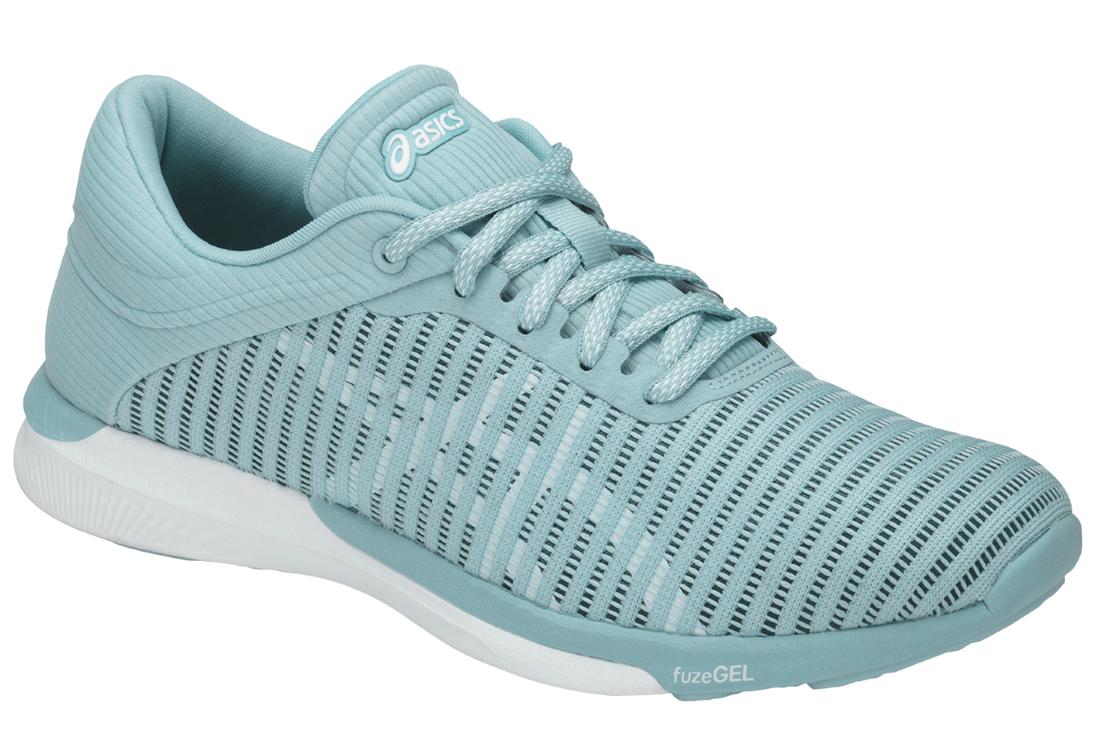 Asics FuzeX Rush Adapt T885N-1401 Femme chaussures de running Bleu ... 0f1a9e2593b