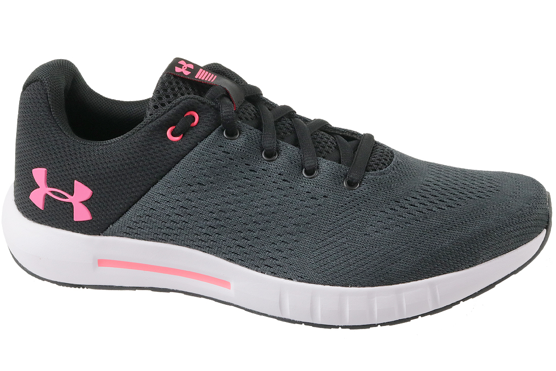 new style 7c7ff b57d2 UA W Micro G Pursuit 3000101-001 Femme chaussures de running Gris