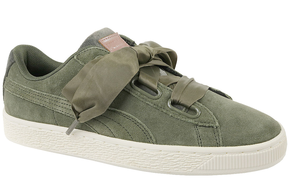 taille 40 1aced b64c3 Puma Suede Heart Velvet Rope 365111-01 Femme sneakers Khaki