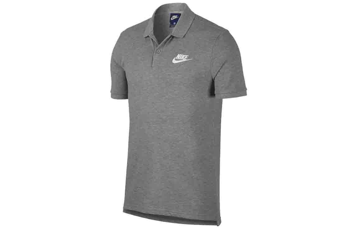 Nike NSW Matchup Polo 909746-063 Homme t-shirt Gris  dab6cc65077