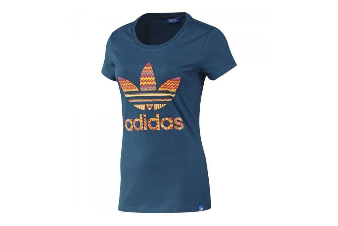 19e458a159 T-shirt Adidas Trefoil F82108 Femme t-shirt Bleu | Alltricks.com