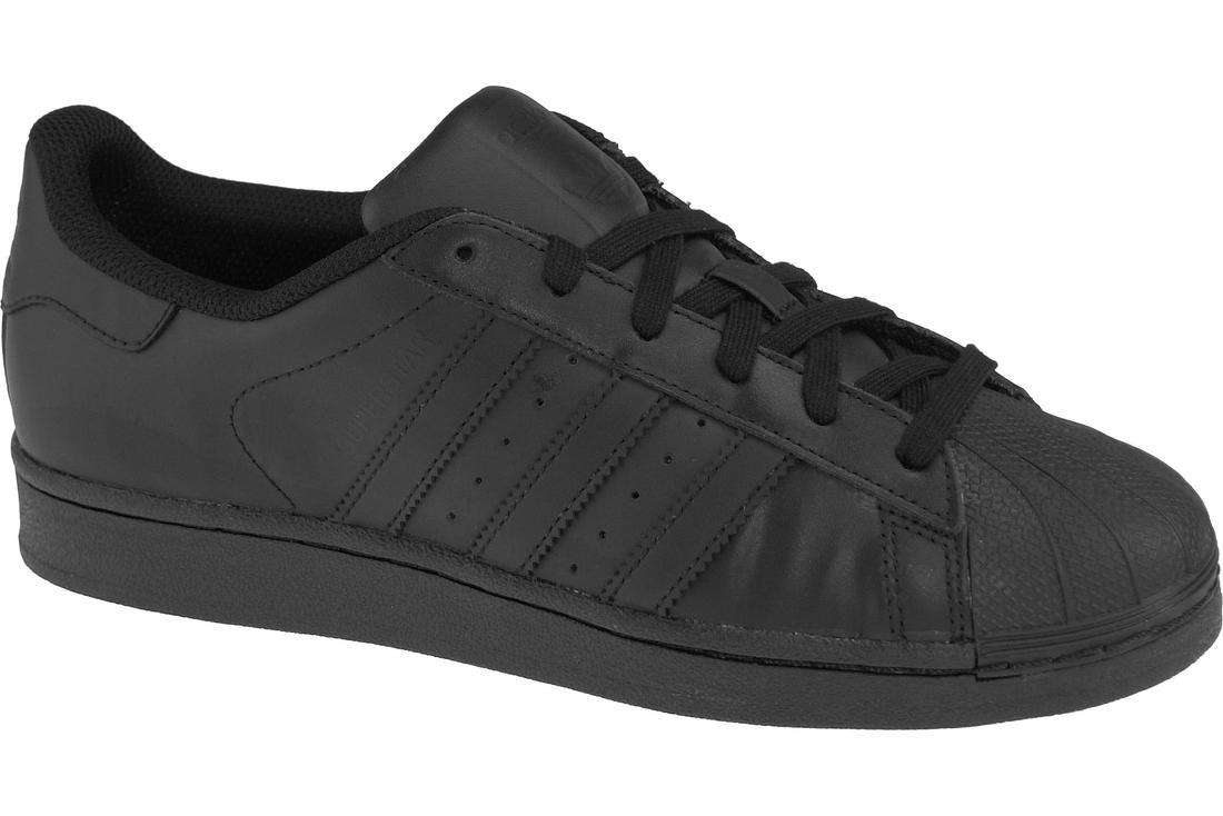 81b08db2c0 Adidas Superstar J Foundation B25724 Garçon chaussures de sport Noir ...