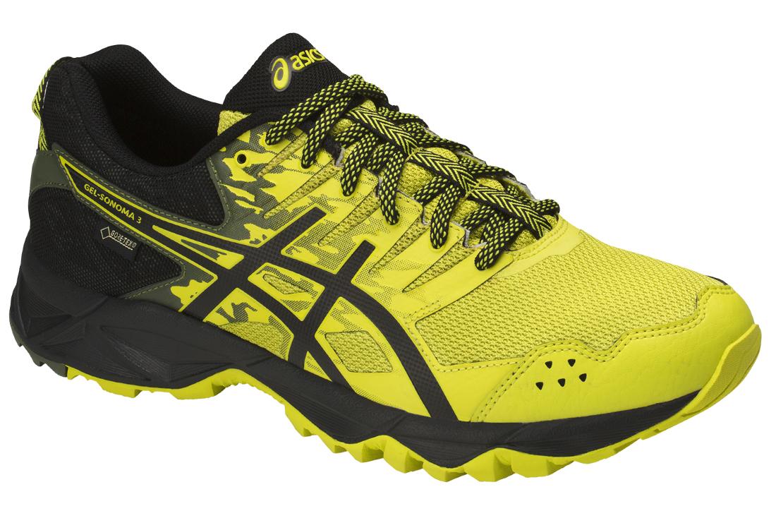 3bbb5a1c8ce Asics Gel-Sonoma 3 G-TX T727N-8990 Homme chaussures de running Noir ...
