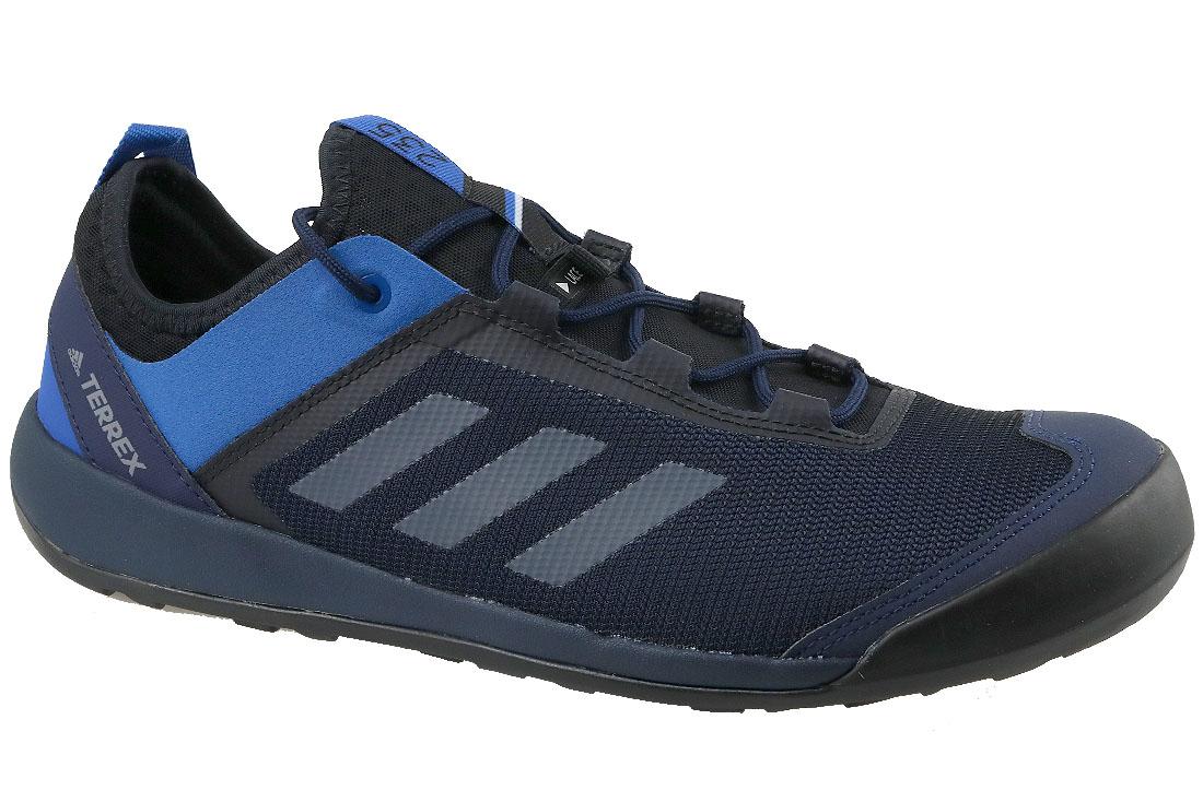 best sneakers e4f05 3deb9 Adidas Terrex Swift Solo CM7633 Homme chaussures de sport Bleu foncé