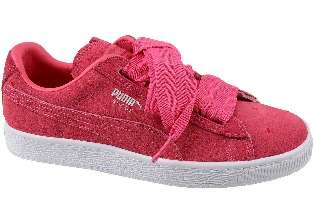 meilleure sélection 34ea5 a22c4 Puma Suede Heart Jr 365135-01 Garçon sneakers Rouge