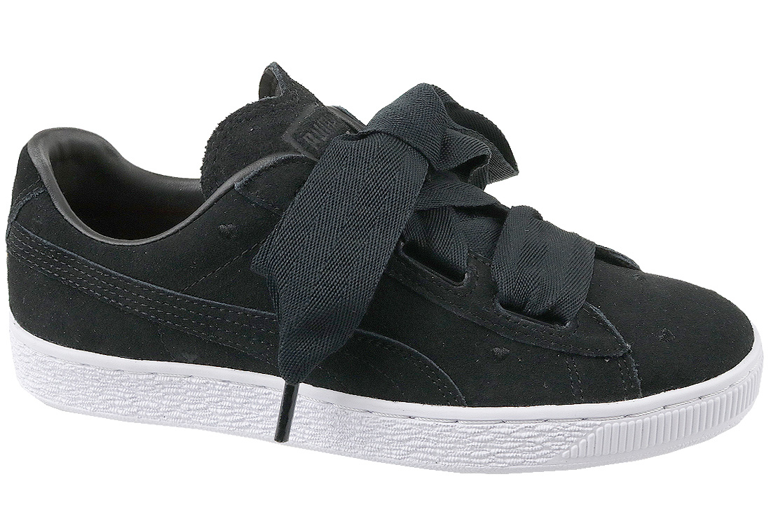 taille 40 17a51 f9e6e Puma Suede Heart Jr 365135-02 Garçon sneakers Noir