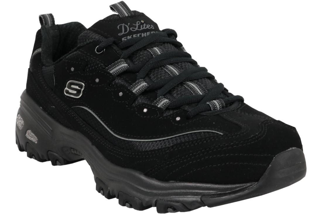 genuine shoes best cheap new style Skechers D'Lites Biggest Fan 11930-BBK Femme sneakers Noir