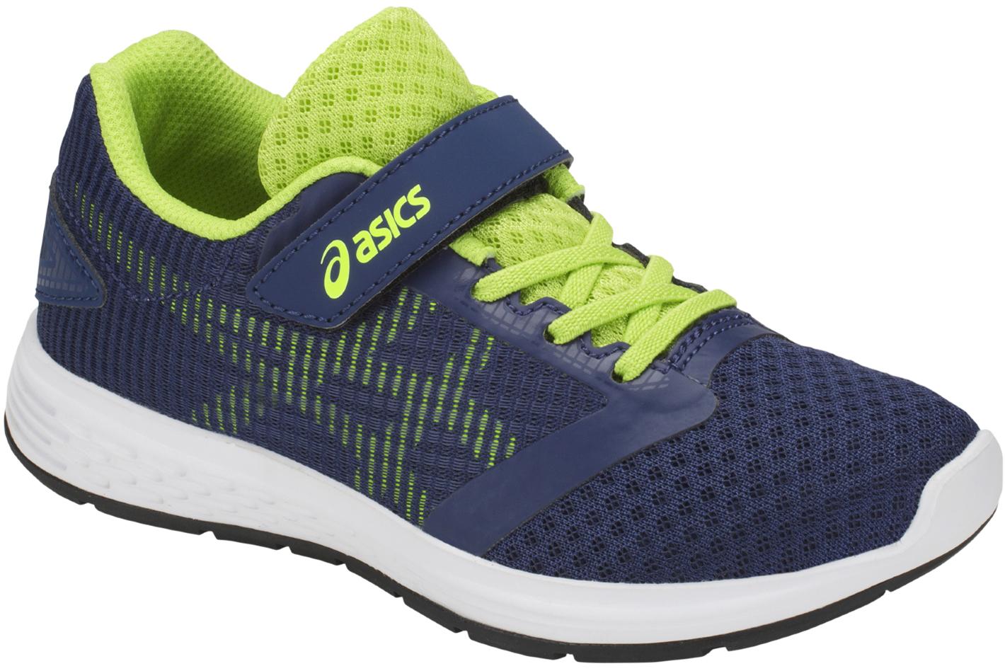ed95ff9e6e48f0 Asics Patriot 10 PS 1014A026-401 Garçon chaussures de running Bleu foncé