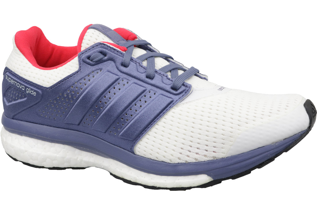 check out 20539 f8e19 Adidas Supernova Glide 8 W S80277 Femme chaussures de running Blanc